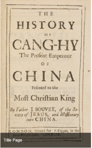 Title Page of History of Cang-Hy