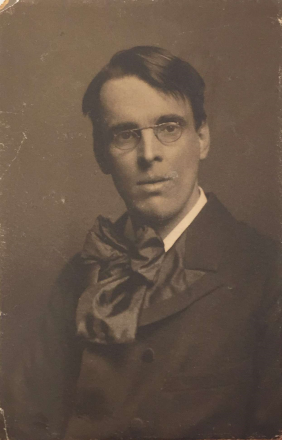 Photograph of W. B. Yeats taken in New Haven, Connecticut in 1903. Box 8, Folder 31, Boston College collection of Yeats family papers, MS.1986.054, John J. Burns Library, Boston College.