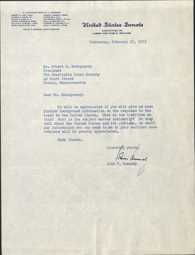 Image of Letter from John F. Kennedy
