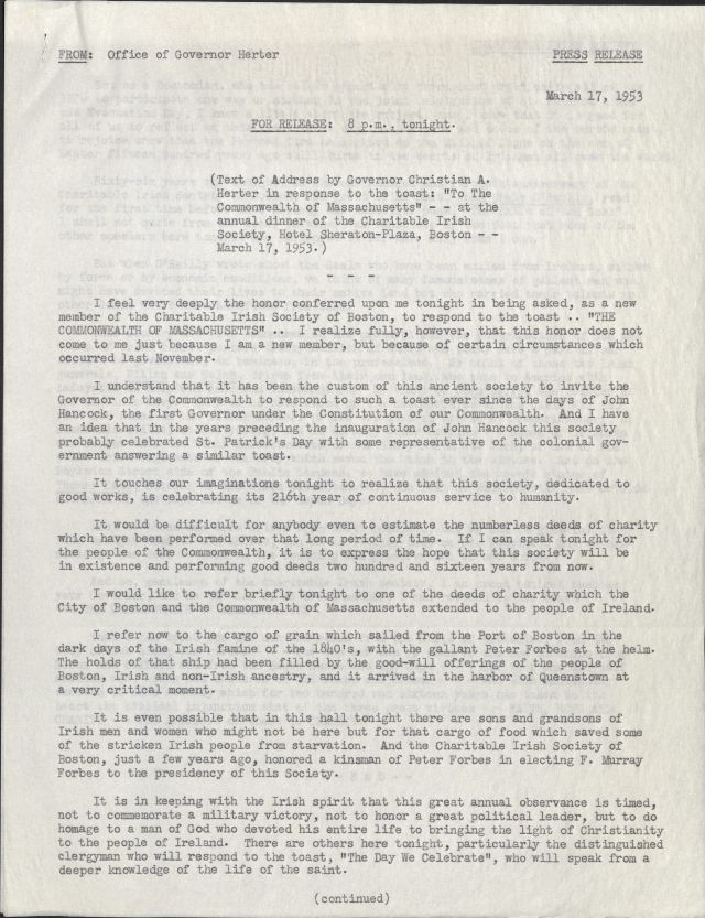Image of typewritten letter