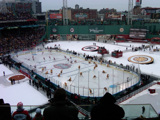 Image of NHL winter classic in Fenway Park, 2010