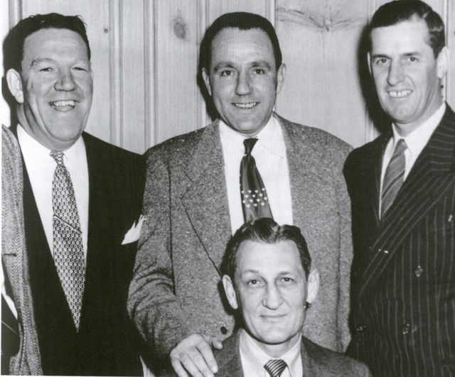 1952 Beanpot coaches from all 4 colleges