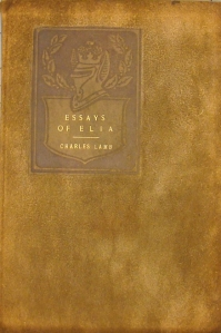 Suede cover of Essays of Elia.