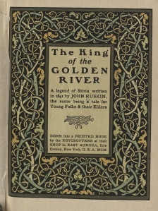 Title page of The King of the Golden River.