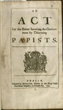 An Act Disarming Papists