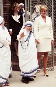 Photograph of Mother Teresa and Princess Diana