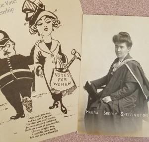 Sheehy Skeffington & suffrage cartoon