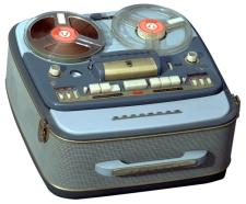Image of Grundig reel-to-reel tape recorder