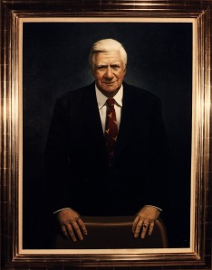 Official portrait painting of Thomas P. O'Neill