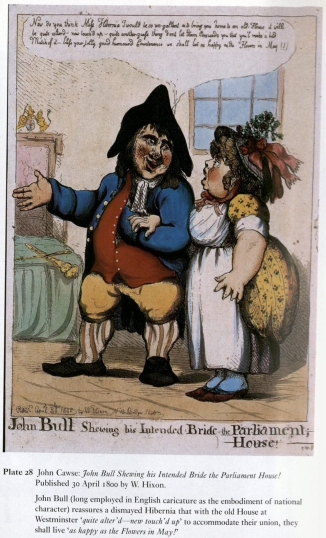 John Bull Shewing his Intended Bride to the Parliament House