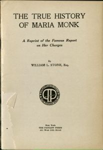 Image of the cover of The True History of Maria Monk