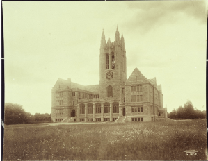 Gasson Hall, first building on Chestnut Hill campus