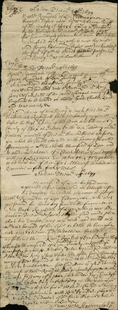 Hathorne 1699