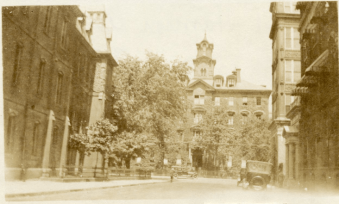Boston College's original building in South End