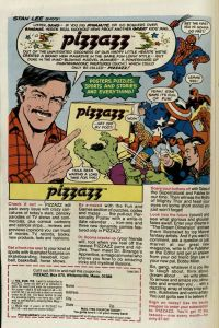[Advertisement for Pizzazz Magazine, featuring Stan Lee] Burns Library, Edward Kane Collection, Avengers Annual, 1977.