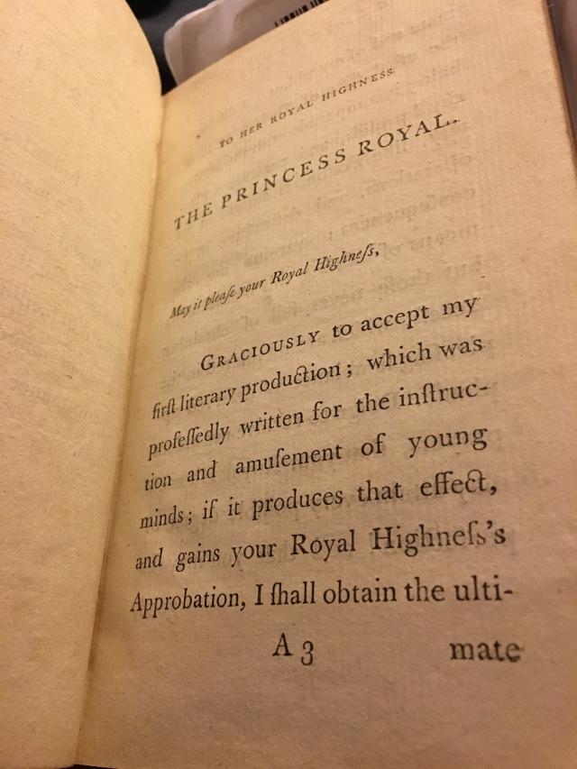 Dedication beginning To Her Royal Highness The Princess Royal