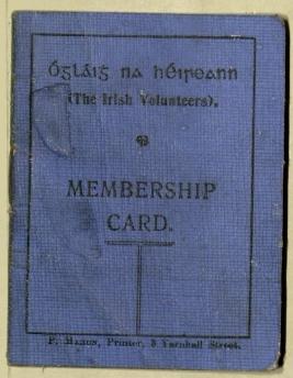 Irish Volunteers Membership Card