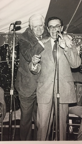 Photo of Edward Boland and Tip O'Neill at a function