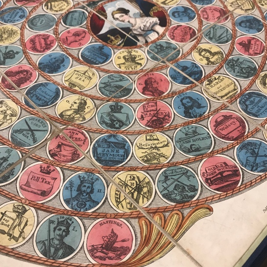 Detail of gameboard, Historical Pastime: A New Game of the History of England.