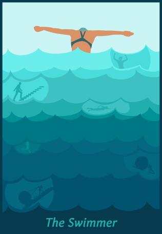 The Swimmer tarot card