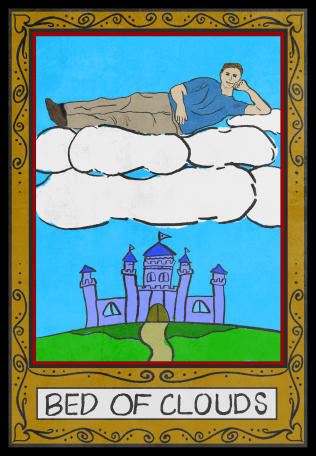 Bed of Clouds tarot card