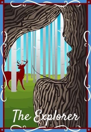 The Explorer tarot card