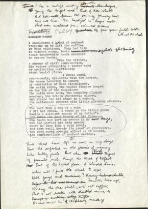 Image of Funeral Rites draft manuscript