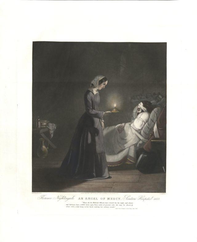 Florence Nightingale - Lady of the Lamp - mezzotint - 18