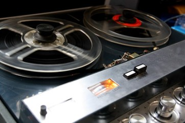 Photo of reel-to-reel tape recorder