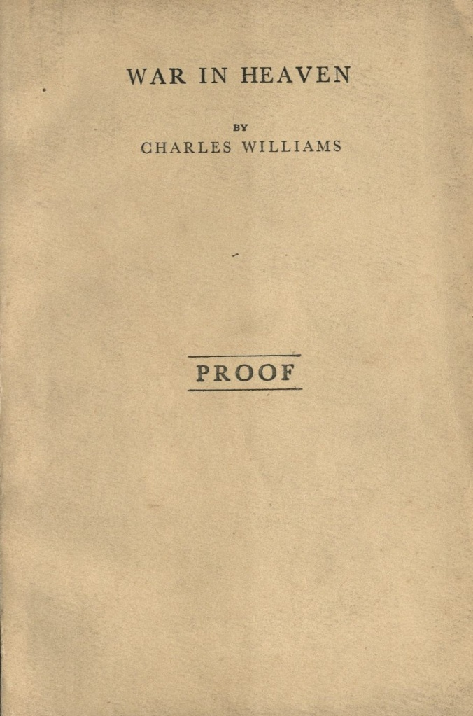 Image of cover of Charles Williams novel War in Heaven